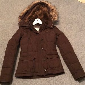Abercrombie & Fitch brown winter jacket